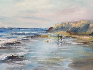 Ölmalerei, Meer, Strand