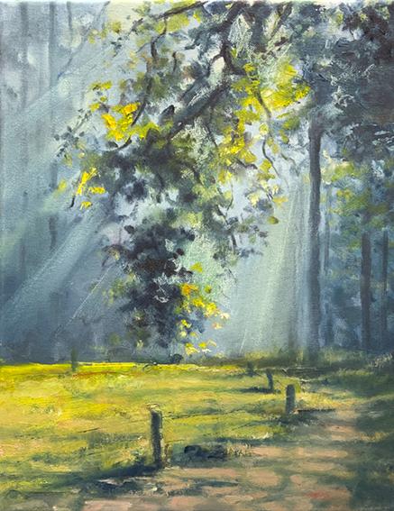 Malkurs Ölmalerei, Waldlichtung